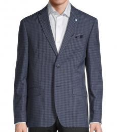 Ben Sherman Navy Blue Checker Jacket