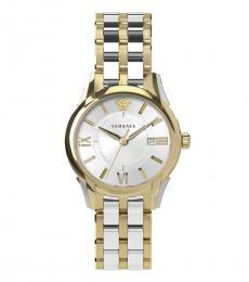 Versace Silver-Gold Gent Watch