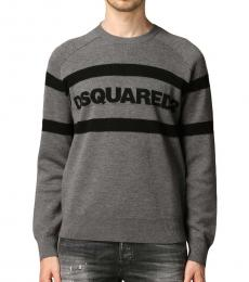 Dsquared2 Dark Grey Front Logo Sweater