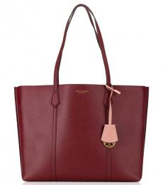 Tory Burch Red Perry Large Tote