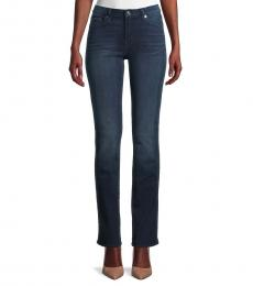 7 For All Mankind Blue Black Straight-Fit Jeans
