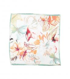 Vince Camuto Multicolor Brushed Flowers Square Scarf