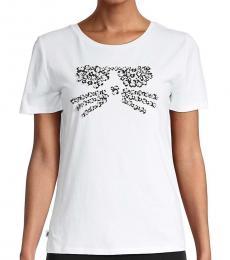 White Embellished Crewneck T-Shirt