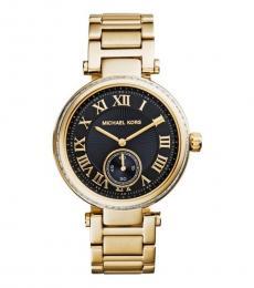 Michael Kors Golden Skylar Black Dial Watch