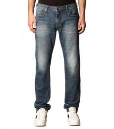 Emporio Armani Navy Blue Stretch Classic Jeans