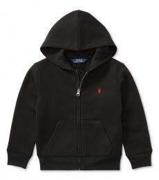 Ralph Lauren Little Boys Black Full Zip Hoodie