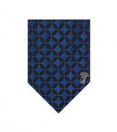 Versace Blue Minimalist Tie