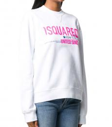 Dsquared2 White Cotton Logo Sweatshirt