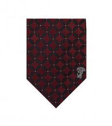 Versace Bordeaux Minimalist Tie