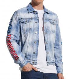 Dsquared2 Blue Sleeve Logo Denim Jacket