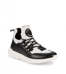 Karl Lagerfeld White Black Colorblock Sneakers