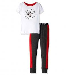 DKNY 2 Piece T-Shirt/Pajama Set (Little Boys)