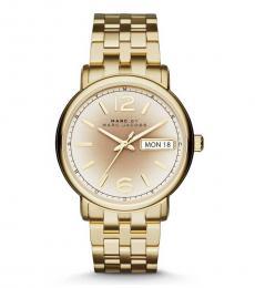 Marc Jacobs Gold Bracelet Watch