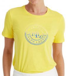 Ralph Lauren Yellow Logo Cotton Jersey Tee