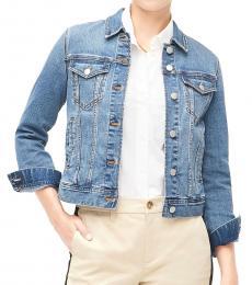 J.Crew Blue Denim Classic Jacket