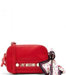 Love Moschino Red Box Small Crossbody