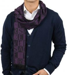 Versace Purple Signature Pattern Scarf