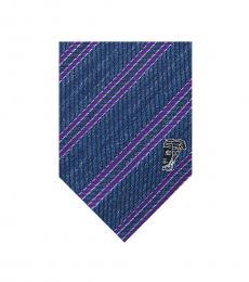 Versace Blue-Violet Striped Tie