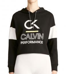 Calvin Klein Black Logo Color Block Hoodie