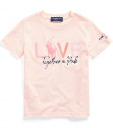 Ralph Lauren Little Boys Pink Pony Graphic T-Shirt