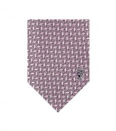 Versace Pink Geometric Tie