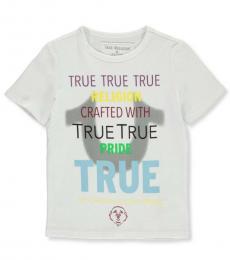 True Religion Little Boys White Graphic Text T-Shirt