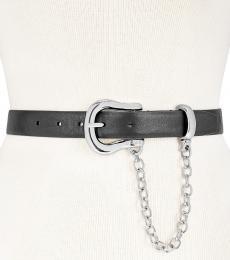 DKNY Black Chain Logo Belt