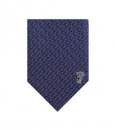 Versace Dark Violet Geometric Tie