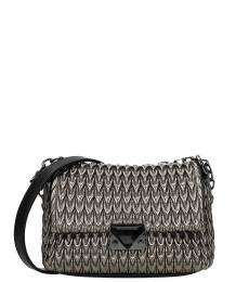 Grey Textured Small Crossbody Bag