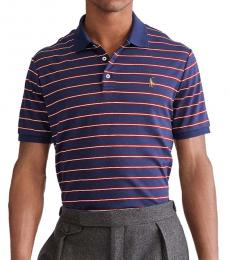 Ralph Lauren French Navy Classic-Fit Striped Polo