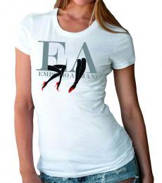 Emporio Armani White Crew Neck Logo Tee