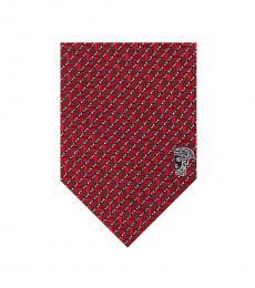 Versace Bordeaux Geometric Tie