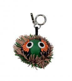Fendi Green Fringes Logo Charm