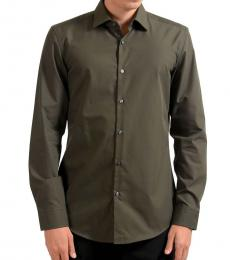 Olive Long Sleeve Dress Shirt