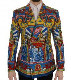 Dolce & Gabbana Multicolor Dragon Print Blazer