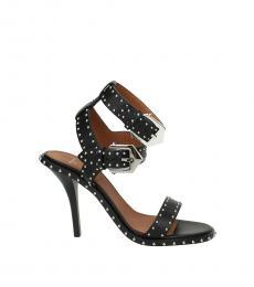 Black Studs Embellished Heels