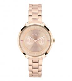 Rose Gold Dial Ritzy Watch