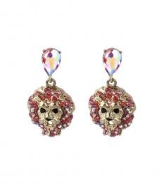 Betsey Johnson Multi color Lovely Lion Earrings
