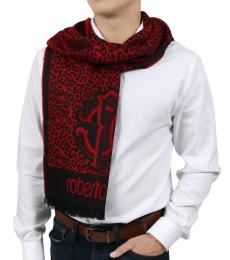 Red Tiger Print Scarf