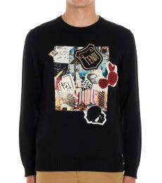 Fendi Black Karl Kollage Sweater