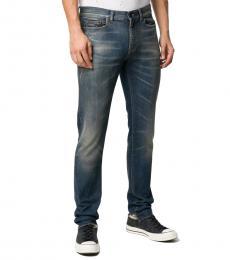 Saint Laurent Dark Blue Stretch Skinny Jeans