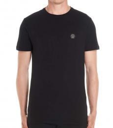 Philipp Plein Black Skull Logo T-Shirt
