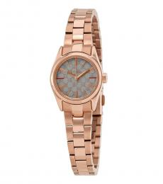 Furla Rose Gold Eva Warm Grey Dial Watch