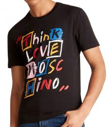Black Think Scribble Graphic T-Shirt