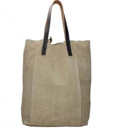 Marni Beige Suede Large Tote