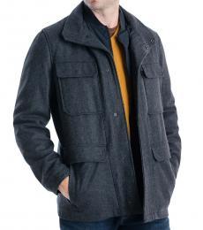 Michael Kors Charcoal Mayfield Field Coat