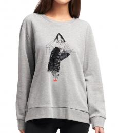 Grey City Girl Applique Sweatshirt