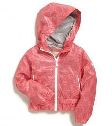 Michael Kors Little Girls Camelia Rose Ruffle Hem Jacket