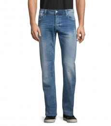 Diesel Denim Faded Straight-Fit Jeans