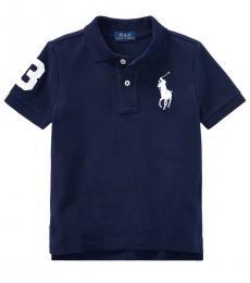 Little Boys French Navy Big Pony Polo